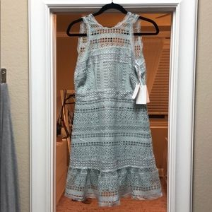 Anthropologie Lace Light Blue Dress